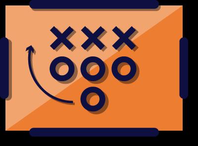 illustration of a football playbook